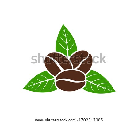coffee beans logo isolated