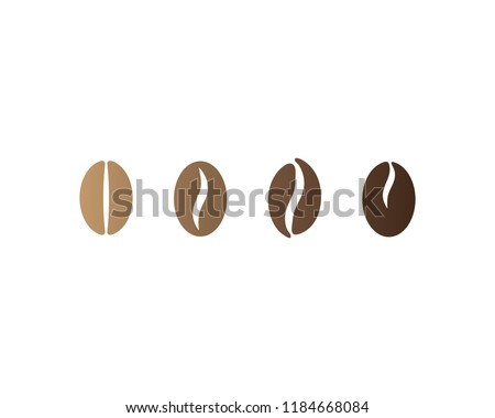 coffee beans logo template