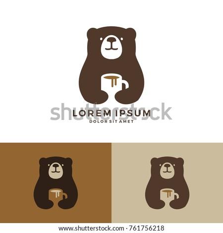coffee bear logo hold mug