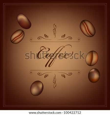 coffee bearns brown background