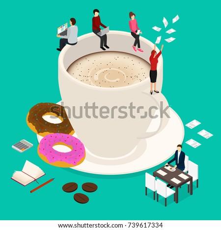 coffee break concept 3d