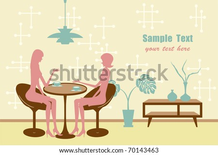 Coffee break. Illustration vector. - stock vector