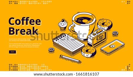 coffee break isometric landing
