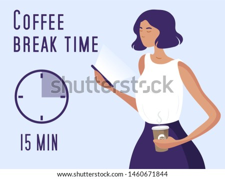coffee break time concept