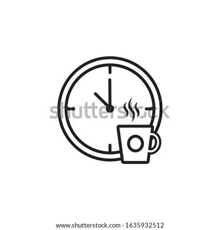 Coffee break time icon design. vector illustration Stock photo ©
