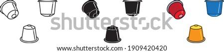 coffee capsule icon , vector illustration Foto stock ©