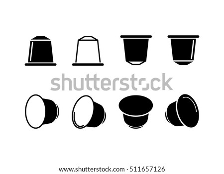 coffee capsule icon - vector illustration.