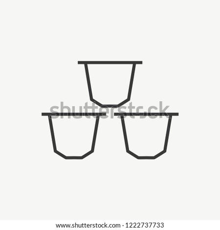 Coffee Capsules Modern Simple Vector Icon Сток-фото ©