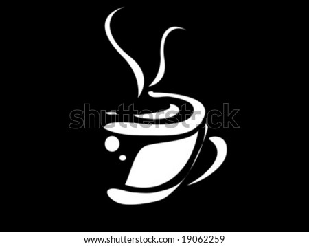 coffee cup and smoke - stock vector