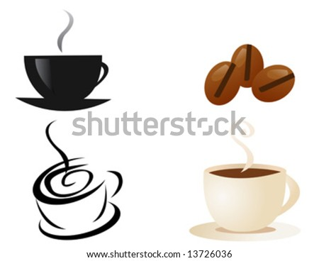 coffee cup and smoke vector
