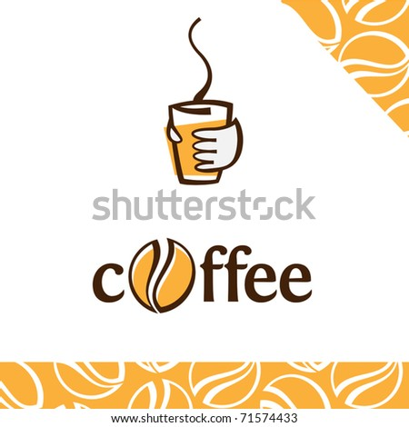 coffee cup as coffee to go sign