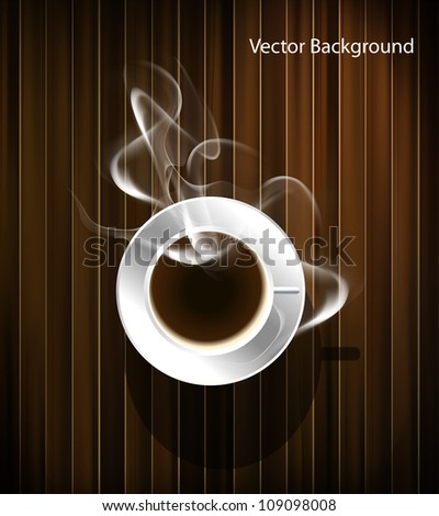 Coffee cup background, vector eps10