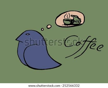coffee cup birds