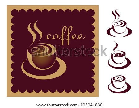 Coffee cup, cafe menu, coffee sign