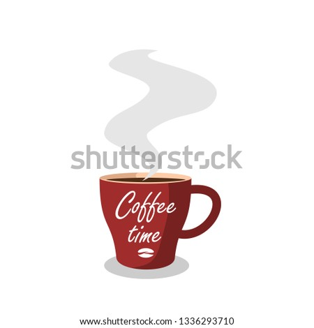Coffee cup coffee time icons vector.