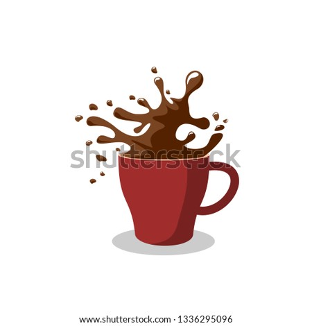 Coffee cup coffee time vector.