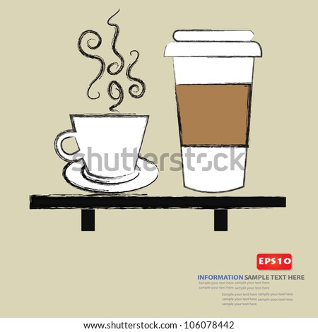 Coffee Mugs Drawing Coffee Cup Drawing,vector
