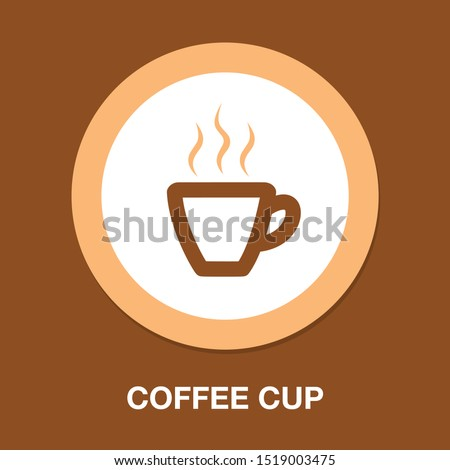 coffee cup icon, coffee mug, hot drink espresso