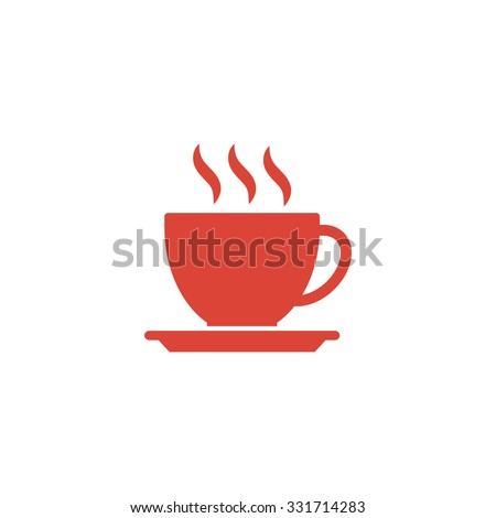 coffee cup icon flat design