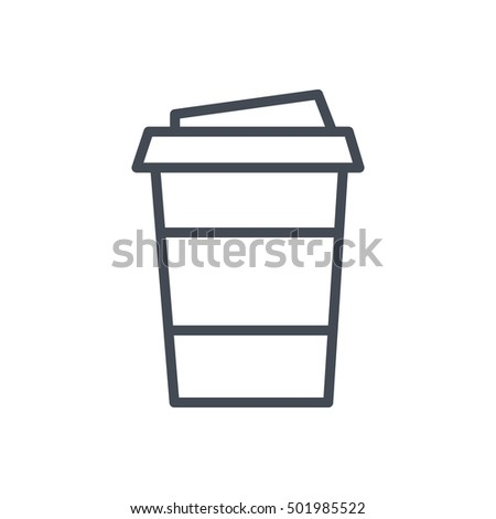 Coffee Cup Icon Food Outlined Drink