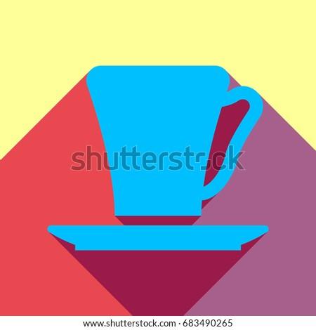 coffee cup icon vector deep
