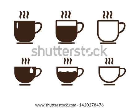 Coffee cup icon. Vector illustration. on white background