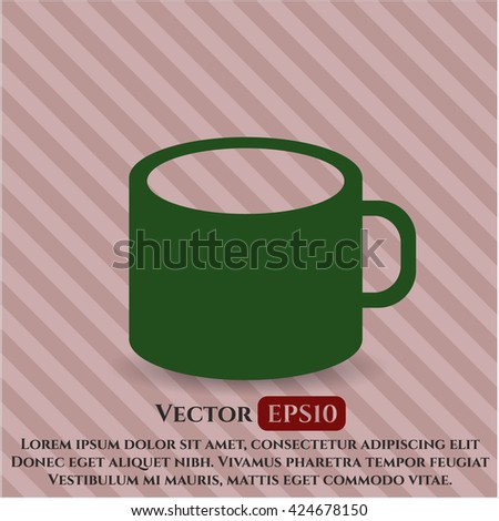 coffee cup icon vector symbol flat eps jpg app web concept