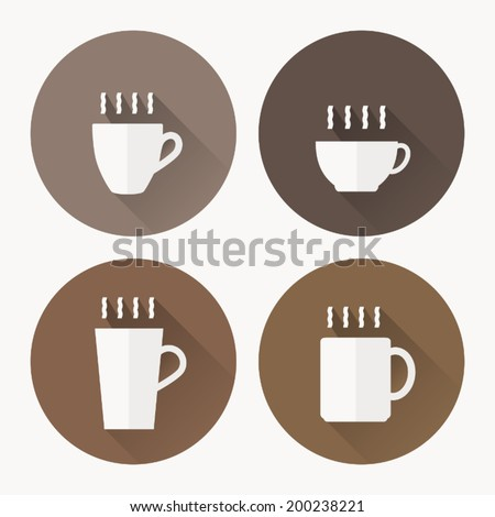 Coffee Cup Flat Icon Coffee Cup Icon With Vector
