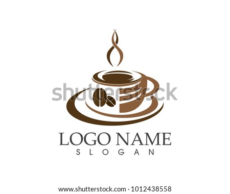 Coffee cup logo design template