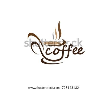 Kaffeetasse Logo Vorlage - Kostenlose Vektor-Kunst, Archiv-Grafiken ...