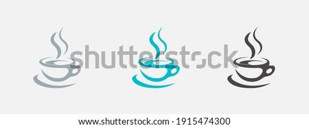 Coffee cup logo template vector set icons design. Foto d'archivio ©