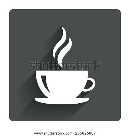 Coffee Cup Flat Icon Coffee Cup Sign Icon