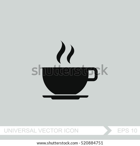Shutterstock Coffee cup vector icon.