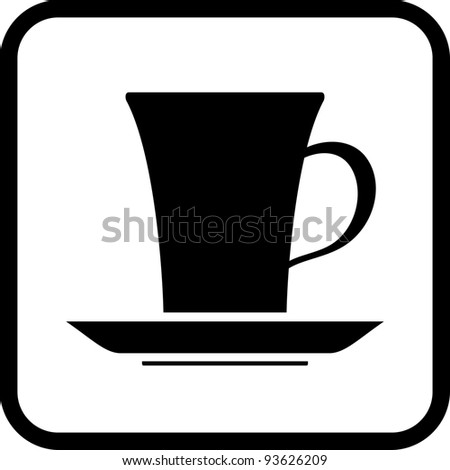 Coffee cup - Vector icon isolated on white
