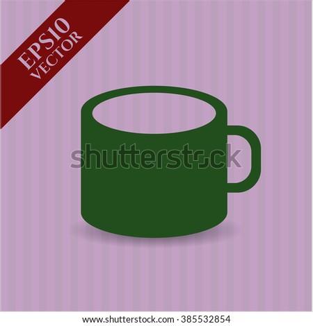 Coffee Cup vector icon or symbol