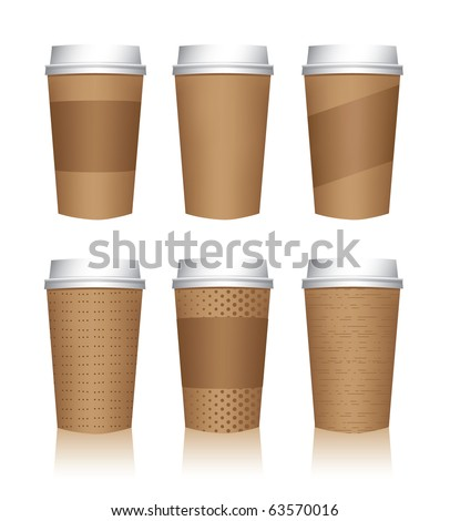 Coffee cup vector templates