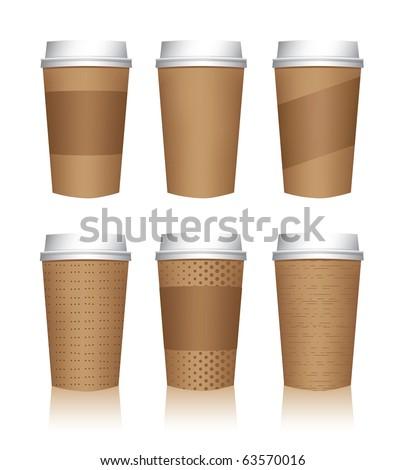 Coffee cup vector templates