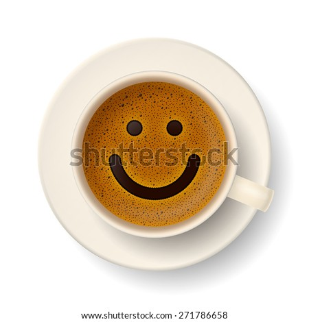 coffee cup with froth in the