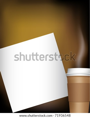 coffee cup with notepad (jpg version is available)