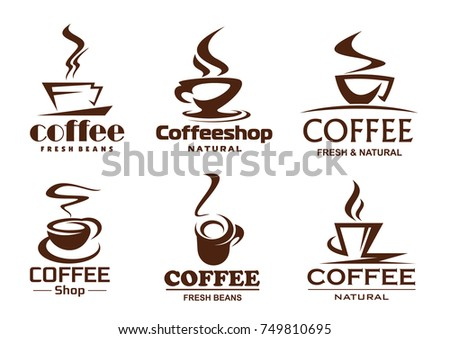 coffee cup logo template download free vector art stock graphics