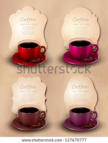 Coffee design template. Vector illustration.