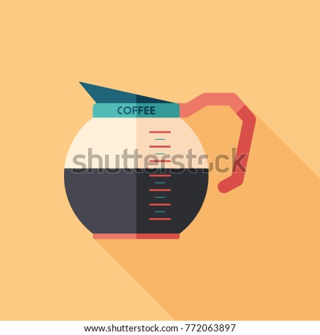 coffee glass kettle flat square