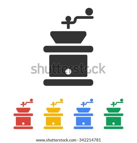 coffee grinder  flat design