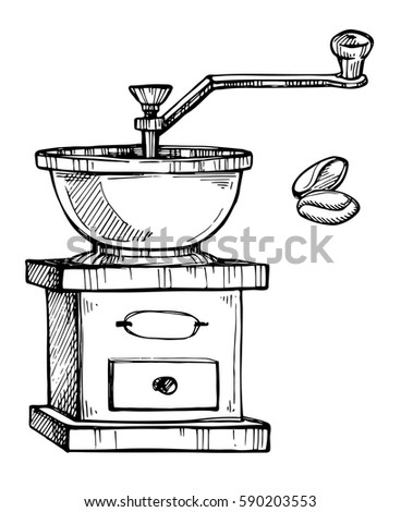 coffee grinder freehand pencil