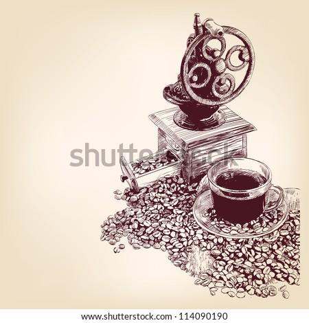 coffee hand drawn vector llustration