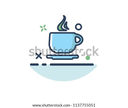 coffee icon line filled design illustration,designed for web and app