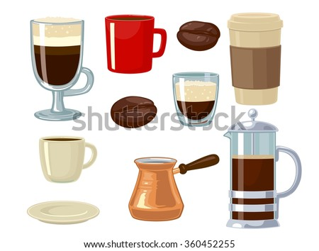 coffee icon set isolated on