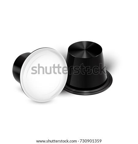 Coffee in Capsules for Espresso Machine. Vector