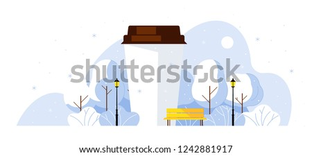 coffee in the park paper cup