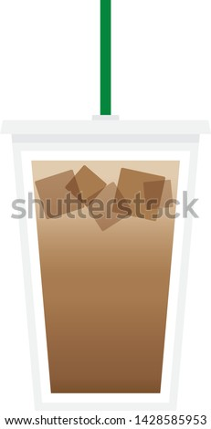 Coffee Latte Cup Vector Illustration Background